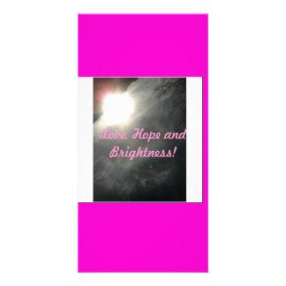 Amor, esperança e brilho! cartão com foto