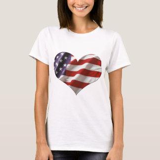 Amor EUA da bandeira do coração de Amercan Camiseta