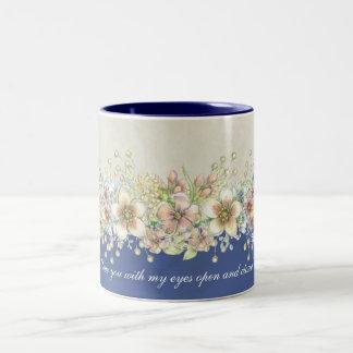 Amor - floral - caneca de café