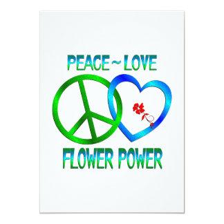 Amor FLOWER POWER da paz Convites