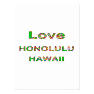 AMOR Honolulu Havaí Cartão Postal