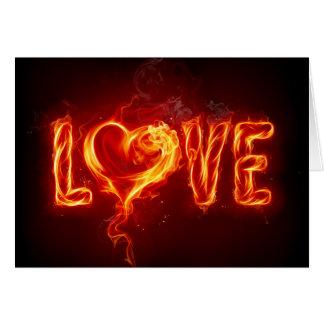 Amor impetuoso cartão