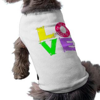 Amor john316 camisa sem mangas para cachorro