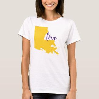 Amor LSU da universidade do T do estado de Camiseta