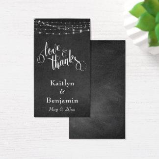 Amor & luzes do quadro dos obrigados que Wedding o Cartão De Visitas