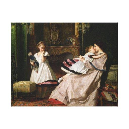 Amor maternal impressão de canvas esticadas