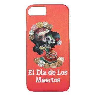Amor maternal de esqueleto mexicano capa iPhone 7