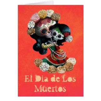 Amor maternal de esqueleto mexicano cartao