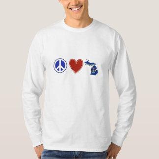 Amor Michigan da paz Camiseta