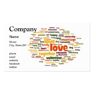 Amor Modelos Cartões De Visitas