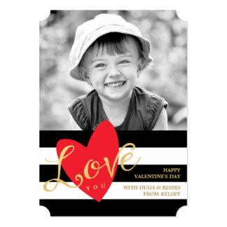 Amor moderno você cartão com fotos do dia dos convite 12.7 x 17.78cm
