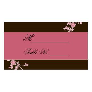 Amor na flor: Cartão castanho chocolate do lugar Cartão De Visita