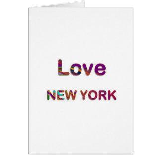 AMOR NewYork New York Cartao