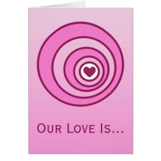 Amor no cartão do dia dos namorados do alvo