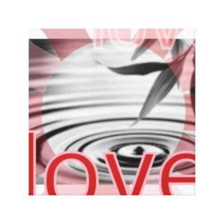Amor no zen da arte das canvas da ação