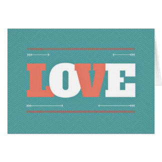 Amor Notecards da cerceta & dos namorados do coral Cartão Comemorativo