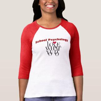 Amor o que você faz a camisa da psicologia da t-shirt