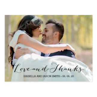 AMOR & OBRIGADO WEDDING DO ROTEIRO %PIPE% DOS CARTÃO POSTAL