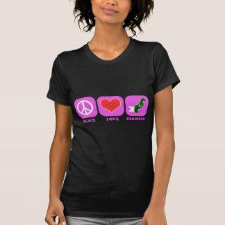 Amor Paquistão da paz T-shirt