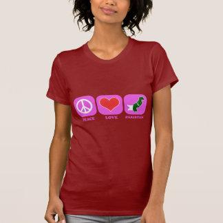 Amor Paquistão da paz Camiseta