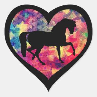Amor para cavalos adesivo coração