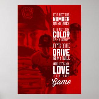 Amor para o poster do jogo com sua imagem pôster