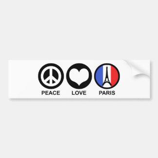 Amor Paris da paz Adesivo Para Carro