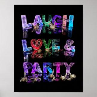 Amor & partido do riso posteres