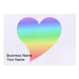 Amor Pastel do arco-íris do coração retro brilhant Cartão De Visita