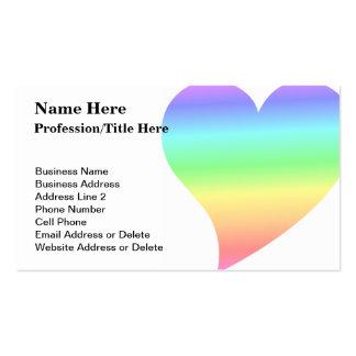 Amor Pastel do arco-íris do coração retro brilhant Cartões De Visitas