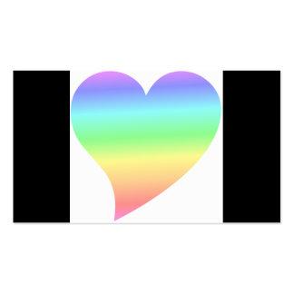 Amor Pastel do arco-íris do coração retro brilhant Cartoes De Visita