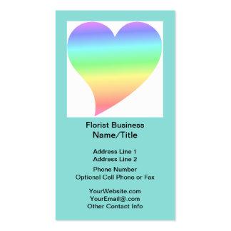 Amor Pastel do arco-íris do coração retro brilhant Cartões De Visita