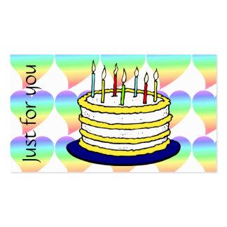 Amor Pastel do arco-íris do coração retro Cartão De Visita