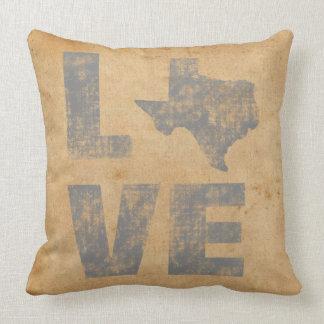 Amor patriótico rústico Texas do mapa lindo de Almofada