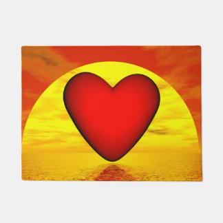 Amor pelo por do sol - 3D rendem Tapete