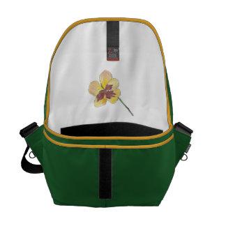 Amor perfeito amarelo bolsas mensageiro