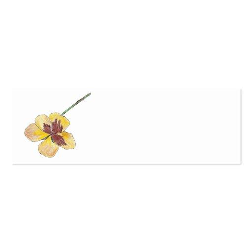 Amor perfeito amarelo cartão de visita