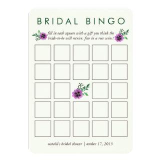 Amor perfeito roxo do cartão de jogo | do Bingo do Convite 12.7 X 17.78cm