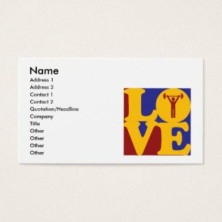 Amor pessoal do treinamento cartão de visitas