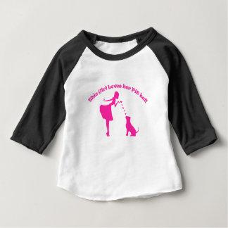 amor pitty camiseta para bebê