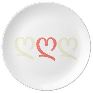 Amor - placa da porcelana prato de porcelana