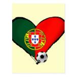 Amor, Portugal e Futebol - quer do vôce dos mais d Cartões Postais