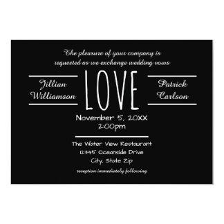 Amor preto/branco - convite do casamento