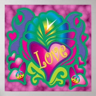 Amor psicadélico pôsteres