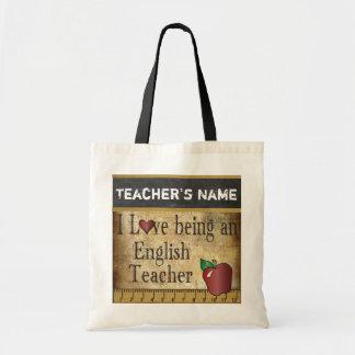 Amor que é um nome do professor de inglês | DIY Bolsa Tote