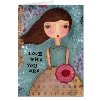 Amor que você é cartão