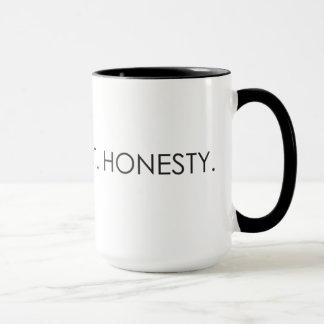 Amor. Respeito. Honestidade. Caneca