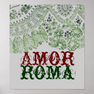 Amor Roma com laço verde Impressão