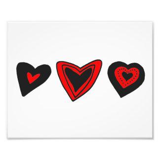 Amor, romance, corações - preto vermelho foto arte