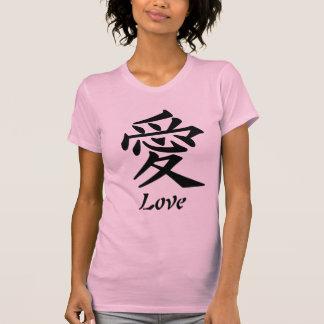 Amor - símbolo chinês t-shirts